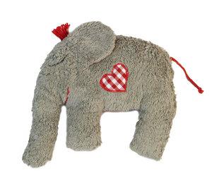 Kuscheltier Greifling mit Rassel 'Elefant' , 100 % Baumwolle-kbA - PAT & PATTY