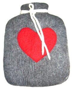Wärmflaschenbezug handgefilzt - short'n'pietz