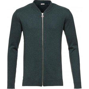 Cotton/Cashmere Cardigan - GOTS - green gable - KnowledgeCotton Apparel