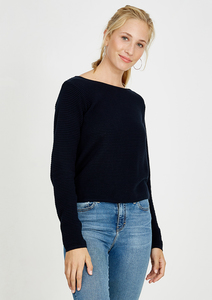 Crew Neck Knit #RIB - recolution