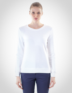 Inna Sweater/ 0001 Bio-Baumwolle/ Minimal - Re-Bello