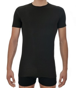 St. Thomas T-Shirt Schwarz Round-Neck - Saint Basics