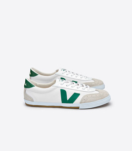 VOLLEY CANVAS WHITE EMERAUDE - Veja