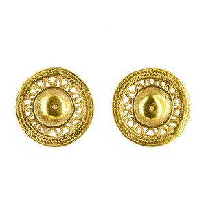 Ohrstecker SOLAYA, 925er Silber, vergoldet - GLOBO Fair Trade
