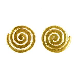 Ohrstecker AMITOLA, 950er Silber, vergoldet - GLOBO