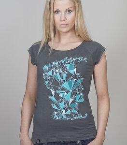 """Bamboo Raglan Shirt Women Charcoal """"Crystal"""" - SILBERFISCHER"""