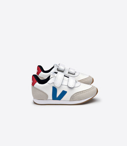 Kinder Sneaker - Arcade Small B-Mesh - White Swedish Blue Pekin - Veja