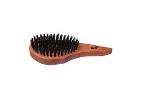 Haarpflegebürste Tropfenform mit Wildschweinborste, 9-reihig - Kostkamm