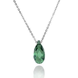 Nude Pine Ernite, grün, 925er Silber, rhodiniert - JuliaPilot