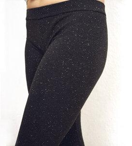 Legging anthrazit Neps aus Bio Jersey - Lena Schokolade