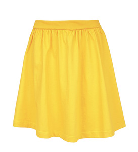 Rock yellow aus Bio-Jersey - Lena Schokolade