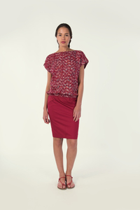 JORIE Shirt - Deep Red - skunkfunk