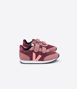 Sneaker Kinder - Arcade Small Pixel - Burgundy Dried Petal Blush - Veja