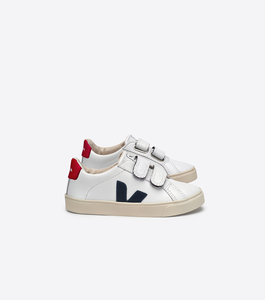 ESPLAR KIDS VELCRO LEATHER EXTRA WHITE NAUTICO PEKIN - Veja