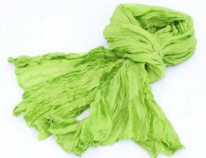 Seidenschal Crinkle grün - Schönes aus Indochina