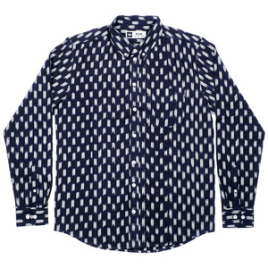 Shirt Varberg Handloom Small Squares navy - DEDICATED