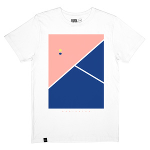 T-Shirt Stockholm Tennis Court white - DEDICATED