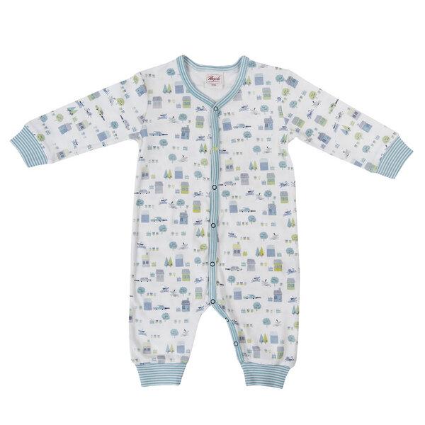 people wear organic baby strampler wei blau gemustert. Black Bedroom Furniture Sets. Home Design Ideas
