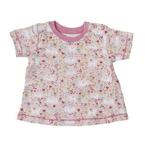 Mädchen Kurzarmshirt rosa bedruckt Bio Baumwolle People Wear Organic - People Wear Organic