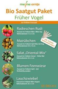 Bio Saatgut Paket Früher Vogel - meine ernte