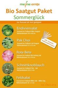 Bio Saatgut Paket Sommerglück - meine ernte