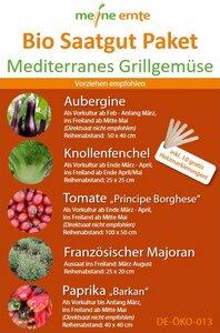 Bio Saatgut Paket Mediterranes Grillgemüse - meine ernte