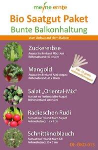 Bio Saatgut Paket Bunte Balkonhaltung - meine ernte