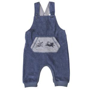 Baby Frottee Latzhose blau Öko People Wear Organic - People Wear Organic