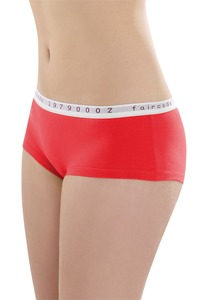 Fairtrade Hot Pants low cut, plum und apfelrot - comazo|earth