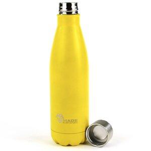 Sonnengelbe Edelstahl Trinkflasche - Made Sustained