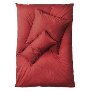 Premium Satin Bettwäsche Komplett-Set bordeaux Deckenbezug 135x 200 cm+2 Kissen + Spannbettlacken - Prolana