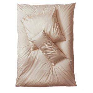 Premium Satin Bettwäsche Komplett-Set taupe Deckenbezug 135x 200 cm+2 Kissen + Spannbettlacken - Prolana