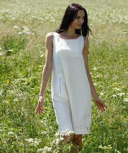 Linen Case Dress floral white - Alma & Lovis