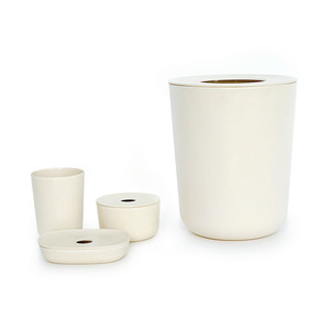 Badezimmer Set 4-teilig weiß - BIOBU