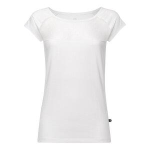 Lace Cap Sleeve T-Shirt Damen Weiß Bio & Fair - ThokkThokk