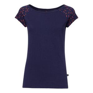 Bug Cap Sleeve T-Shirt Damen dunkelblau Bio & Fair - THOKKTHOKK