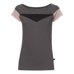 Tiffany Cap Sleeve T-Shirt Damen dunkelgrau Bio & Fair - THOKKTHOKK