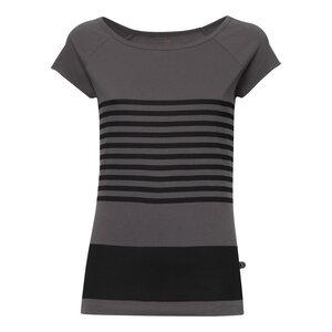 Crosswalk Cap Sleeve T-Shirt Damen schwarz/dunkelgrau Bio & Fair - THOKKTHOKK