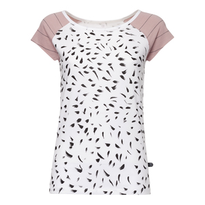 Feather Cap Sleeve T-Shirt Damen weiß Bio & Fair - THOKKTHOKK