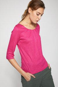 Shirt mit Falten aus Bio-Leinen GOTS - Lanius