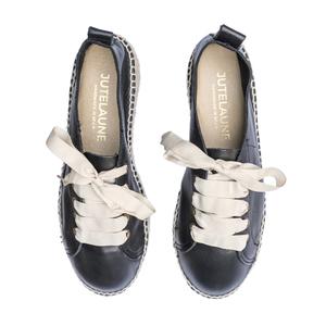 Black Doppelsohle Sneakers - Jutelaune