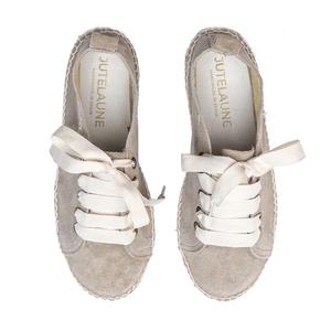 Taupe Doppelsohle Sneakers - Jutelaune