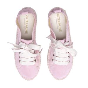 Rosé Doppelsohle Sneakers - Jutelaune