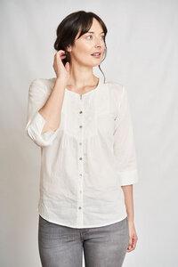 Florence kragenlose Bluse - bibico