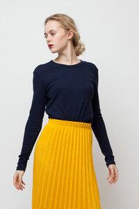 JUNO, Leichtes Longsleeve für Frauen Blue - Green-Shirts