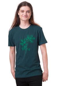 """Bio- & Fair-Trade-Männershirt """"Kastanie"""" tannengrün - Hirschkind"""