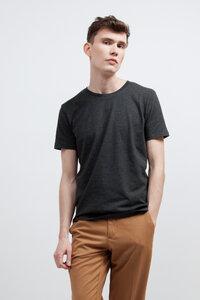 LARIS, Bio T-Shirt für Männer Dark Grey - Green-Shirts