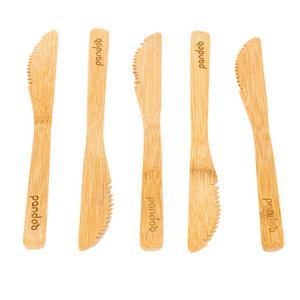 5er-Set: Messer aus Bambus - wiederverwendbar & umweltfreundlich - pandoo