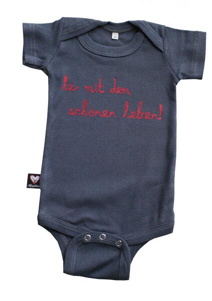 hirschkind bio babybody kurzarm her mit dem sch nen. Black Bedroom Furniture Sets. Home Design Ideas