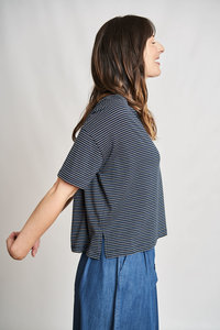 Eva Striped Boxy T-Shirt - bibico